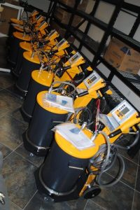 Eight Optiflex 2 Manual Powder Coating Systems Reporting For Duty!